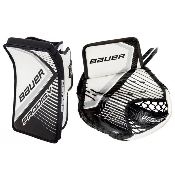 Bauer S17 Prodigy 3.0 Youth Hockey Goalie Full Right Set - White, Black