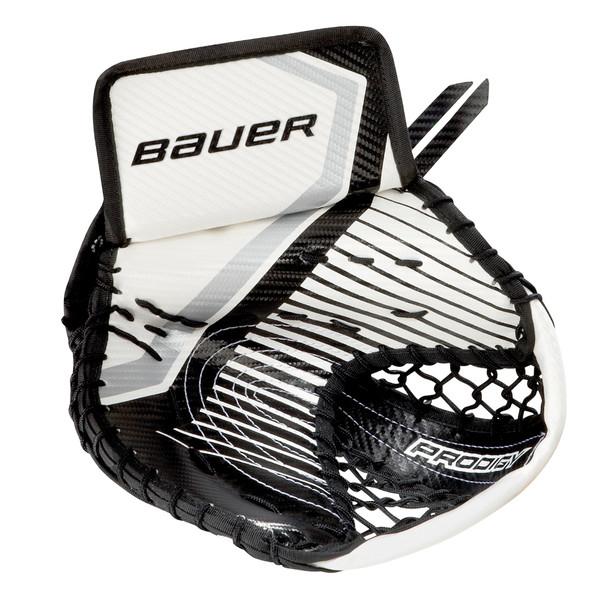 Bauer S17 Prodigy 3.0 Youth Hockey Goalie Catch Glove - White, Black