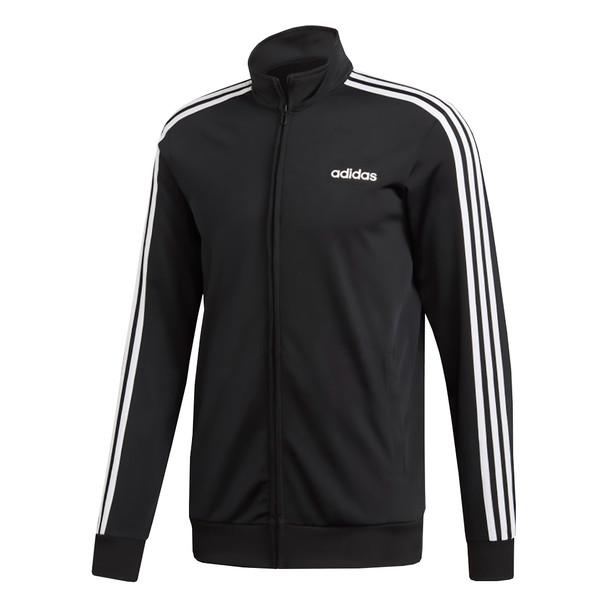 Adidas Essentials 3 Stripe Men's Track Jacket DQ3070 - Black, White
