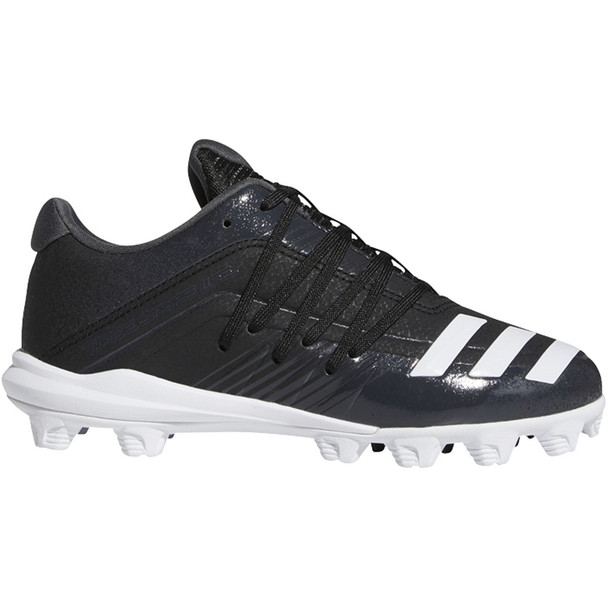 Adidas Afterburner 6 MD Youth Baseball Cleats DB3107 - Black, White, Carbon