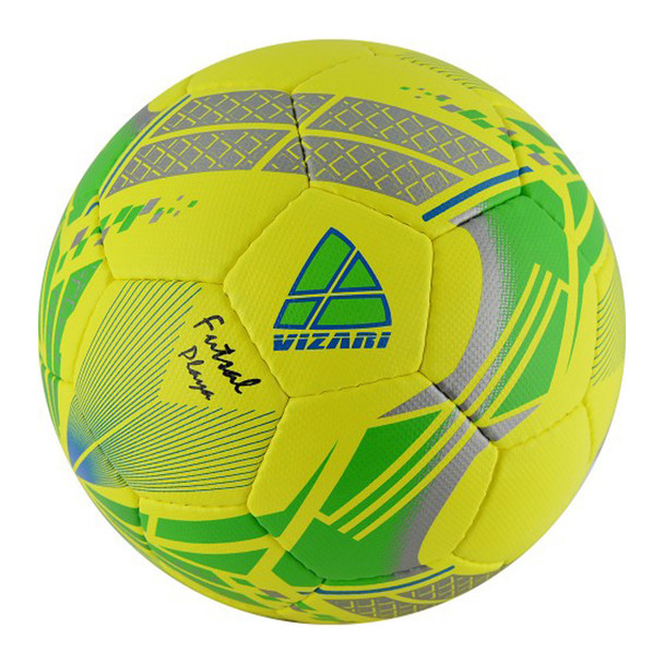 Vizari Playa Low Bounce Futsal Soccer Ball - Yellow, Green, Silver