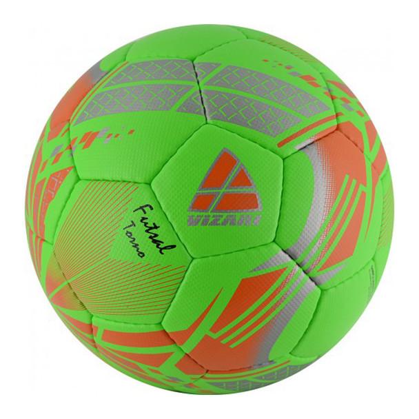 Vizari Torno Low Bounce Futsal Soccer Ball - Green, Orange, Silver
