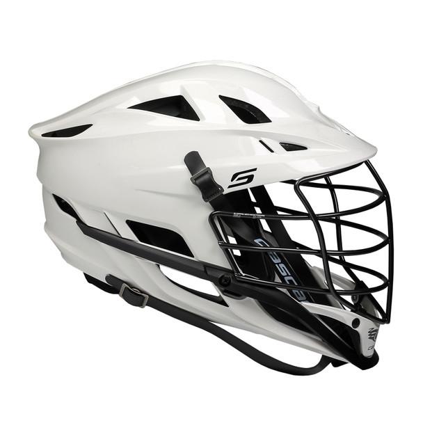 Cascade S Lacrosse Helmet - White Shell, Black Mask