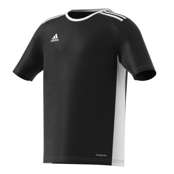 Adidas Entrada Youth Soccer Jersey CF1041 - Black, White