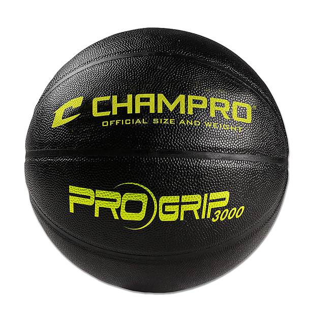Champro Pro-Grip 3000 Indoor Composite 28.5 Inch Women's Basketball - Black/Yellow