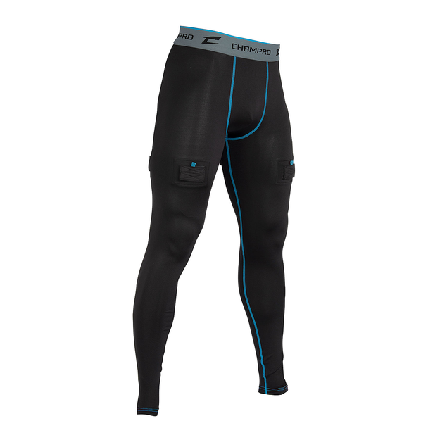 Champro Blade Youth Hockey Compression Pant with Cup - Black