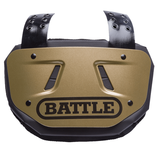 "Battle Youth Football 5.75"" Back Plate - Limited Edition Matte Gold"
