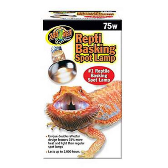 Zoo Med Basking Spot Lamp 75w, Reptile light