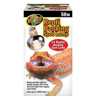 Zoo Med Basking Spot Lamp 50w, Reptile light