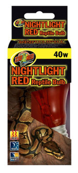 Zoo med Nightlight Red Reptile Bulb , Zoo Med, Reptile Light Bulbs