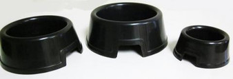 Large Black Round Water Bowls with Hide