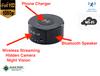 1080P HD wifi Wireless Phone Charger Bluetooth Speaker Night Vision Hidden Camera