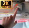 Hidden 2K UHD Camera with Audio in Garage Door Opener for Car Security