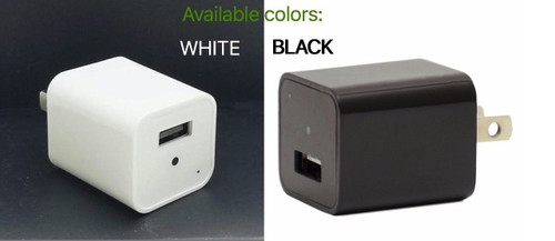 iPhone Wall AC USB Charger Hidden Spy Nanny Cover Full HD Camera DVR White Black