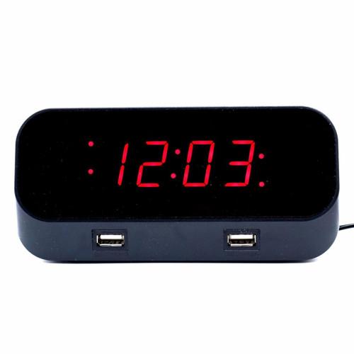 WIFI Live Wireless Security System Hidden Spy Nanny Camera Table Clock Audio