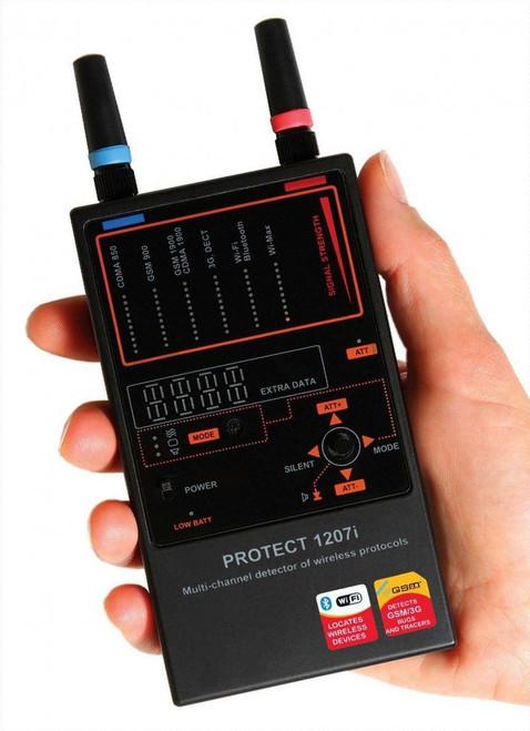 1207i Multi-Channel RF Bug 3G GSM CDMA GPS Spy Detector