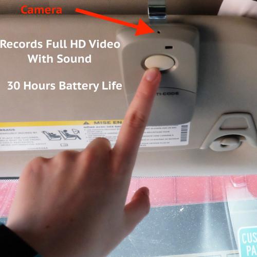 Hidden Full HD Camera in Garage Door Opener for Car Security