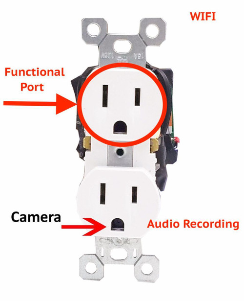bush baby hardwired functional outlet with 1080p hd wifi camera