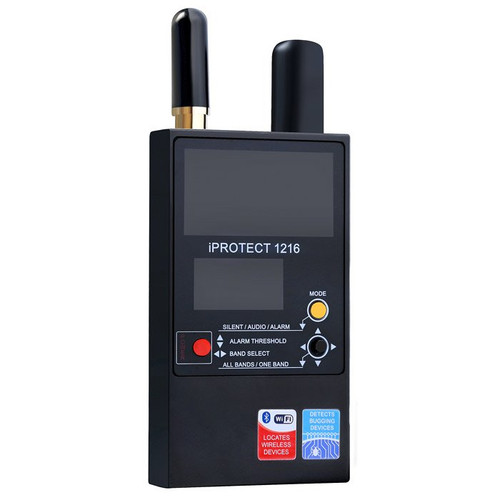 RF Detector 1216 iProtect 3-Band  Wireless Signal Wand.