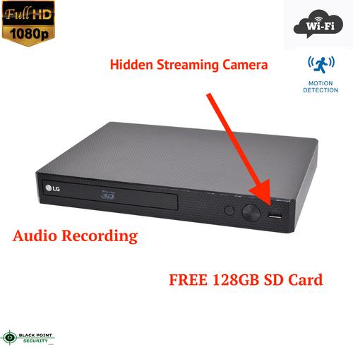 1080P Spy Wireless WIFI Motion Detection Hidden Nanny Camera Blu-Ray Player
