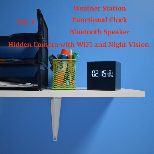 Hidden Night Vision Camera Bluetooth Speaker