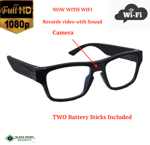 1080p Full HD WIFI Live Stream Eyeglasses Reading Spy Glasses Hidden Camera Audio