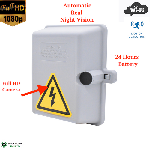 1080P HD Wireless Outdoor Hidden Spy Camera with Night Vision in Electrical Box