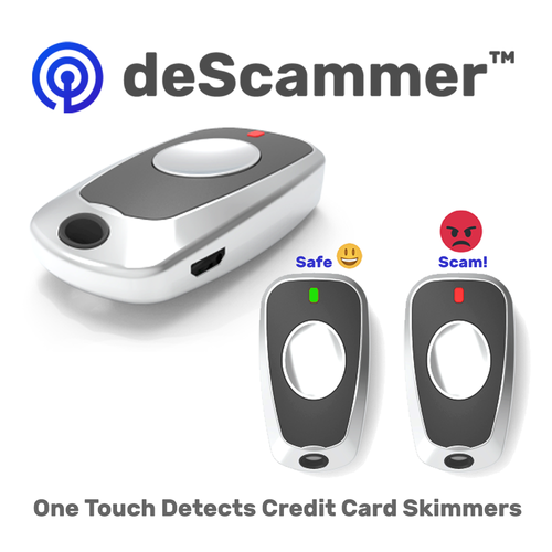 Anti-Spy deScammer One Touch Mini Credit Card Skimmer Detector
