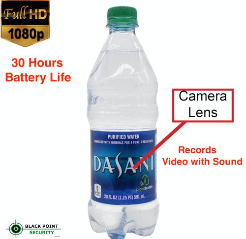 1080P Full HD Hidden Water Bottle Spy Camera DVR DV 30 Hours Battery Audio 16GB