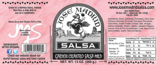 Garden Fresh Cilantro Salsa Mild