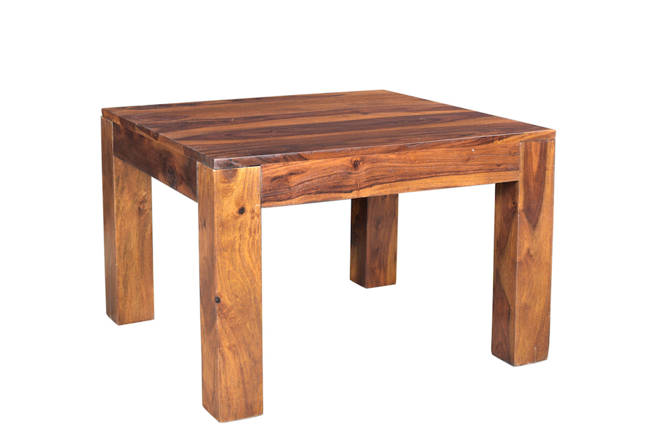 Small Cube Coffee Table.Solid Sheesham Wood Cube Small Coffee Table