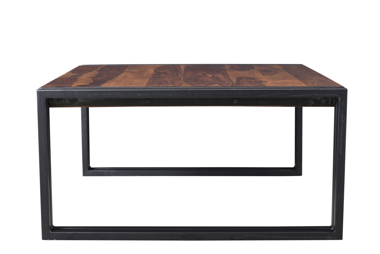 Picture of: Timbergirl Sheesham Wood Coffee Table With Iron Legs Timbergirl