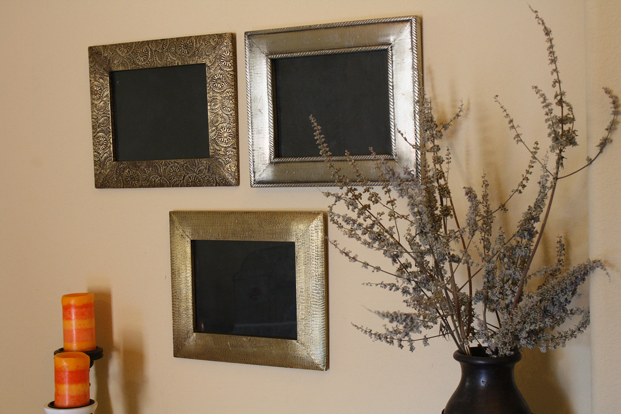 3 Piece Brass Clad Wood Picture Frame Set Timbergirl