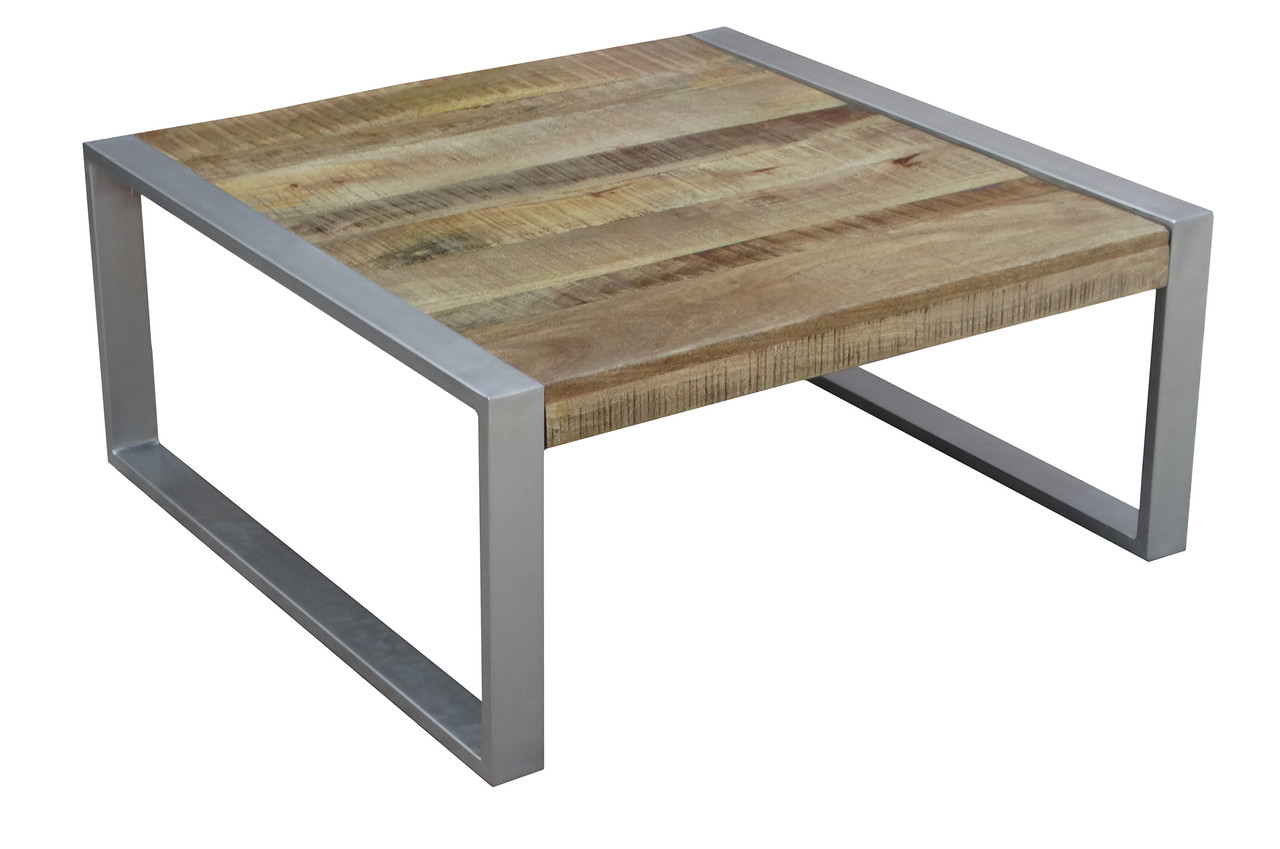Reclaimed Wood Coffee Table With Metal Legs In Dallas Timbergirl