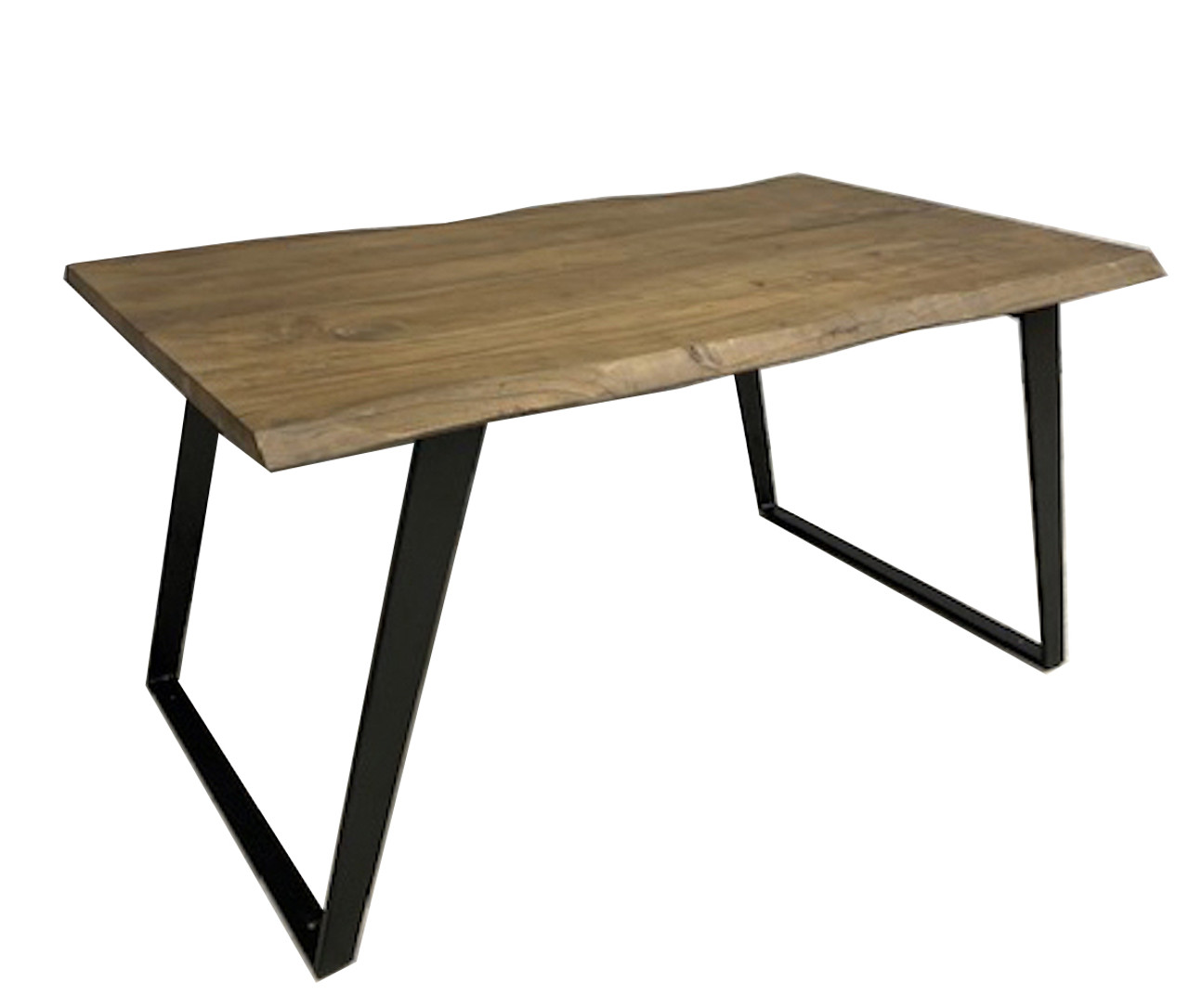 Picture of: Timbergirl Acacia Live Edge Dining Table Black Legs Timbergirl