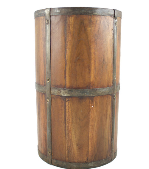Handcrafted Rustic Wood Umbrella Stand