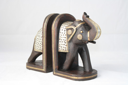 Elephant bookend PAIR