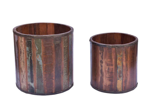 Timbergirl Reclaimed wood planter- Set of 2