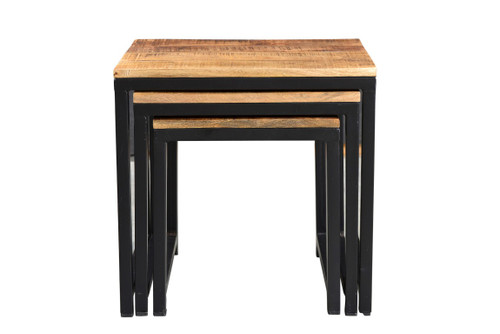 Industrial Wood Metal Nesting Table AA1287 1
