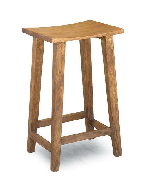 Solid Acacia Wood Bar Stool
