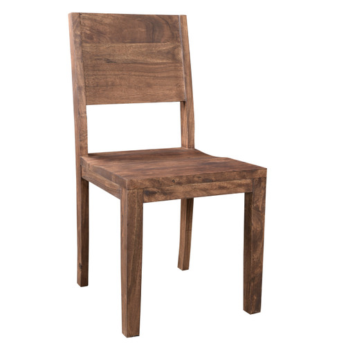 Simple Acacia Wood Dining Chair - Set of 2
