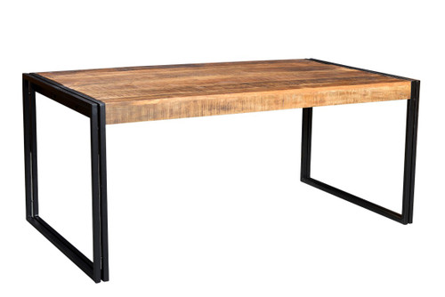 reclaimed Wood Dining Table with Metal Legs  AA1310 1