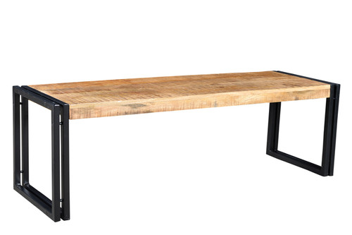 Reclaimed Mango wood Bench with Metal legs