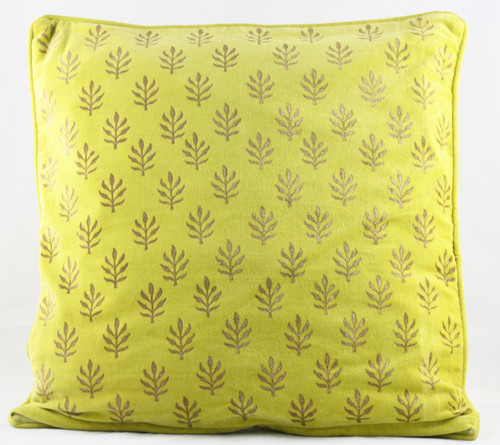 Velvet Cushion Cover - Yellow