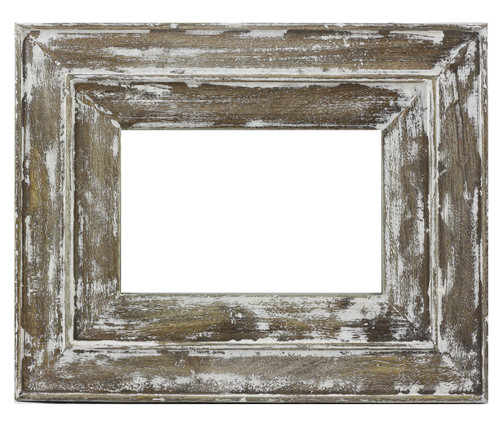White Distressed Moulded Photo Frame