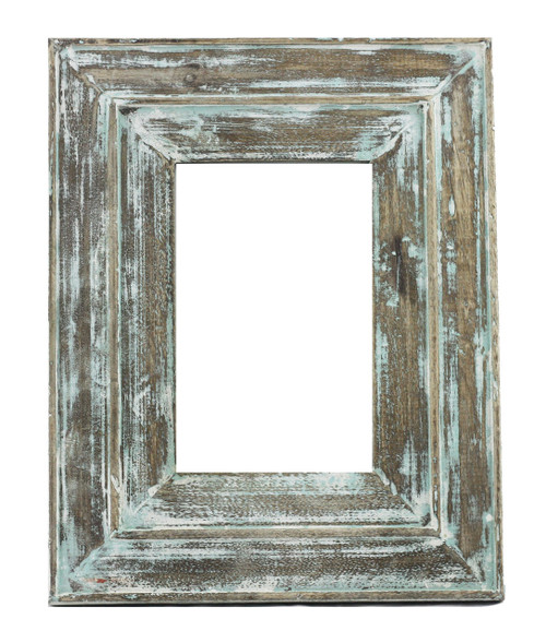 Sea Green Distressed Moudled Photo Frame