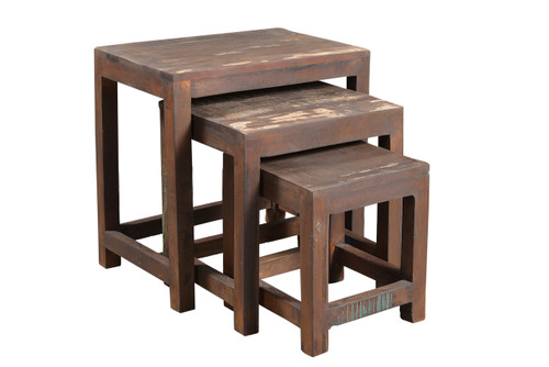 Reclaimed wood Nest of Tables