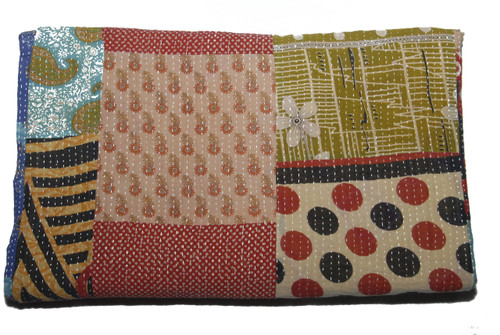 Handmade Vintage Kantha Cotton Throw