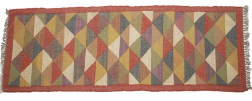 Wool Jute Kilim Rug 2.5'x7' - AA2000R3