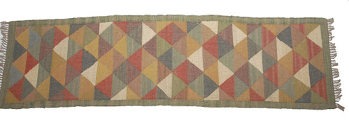 Wool Jute Kilim Rug 2.5'x8' - AA2000R6